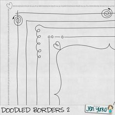 doodle borders - nice thought starter for new embroidery piece Doodle Designs, Doodle Patterns, Zentangle Patterns, Doodle Lettering, Creative Lettering, Typography, Doodle Drawings, Doodle Art, Zen Doodle