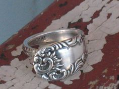 Spoon Ring from Upcycled Silverplate  www.laughingfrogstudio.etsy.com  $24.00