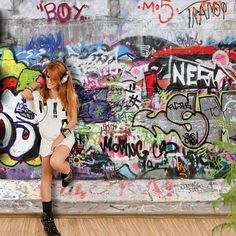 Graffiti Wall Mural #$50-$100 #For-Kids #Gifts-For_The-Home