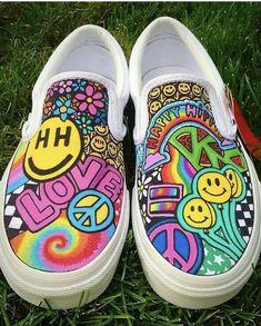 c225dc461ee4da 21 Best Neon Hand Painted Shoe Ideas images