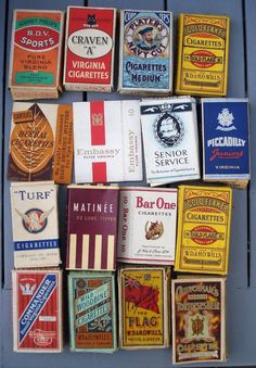 49 DIFFERENT VINTAGE EMPTY CIGARETTE PACKETS & BOXES | eBay