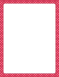 Printable pink polka dot border. Free GIF, JPG, PDF, and PNG downloads at http://pageborders.org/download/pink-polka-dot-border/. EPS and AI versions are also available.