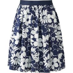 UNIQLO Women Printed Cotton Skirt ($30) ❤ liked on Polyvore featuring skirts, floral printed skirt, flared skirt, cotton elastic waist skirts, flare skirt and floral skirt