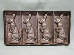 Vintage German Easter Bunny Rabbit Chocolate Molds by COBAYLEY