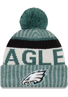 New Era Philadelphia Eagles Midnight Green 2017 Official Sport Knit Hat  Eagles Jersey 5841ea31a477