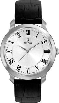 @bulova Watch Gents Dress #bezel-fixed #bracelet-strap-leather #brand-bulova #bulova-core-line #case-depth-6-3mm #case-material-steel #case-width-41mm #delivery-timescale-4-7-days #dial-colour-silver #fashion #gender-mens #movement-quartz-battery #official-stockist-for-bulova-watches #packaging-bulova-watch-packaging #style-dress #subcat-thin-series #supplier-model-no-96a133 #warranty-bulova-official-3-year-guarantee #water-resistant-30m