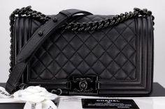 a3f4259e3462 CHANEL 17S 'SO BLACK' IRIDESCENT CAVIAR BOY FLAP BAG BLACK HW – Jill's  Fashion