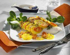 Fisch mit Möhren-Kartoffel-Haube Rezept