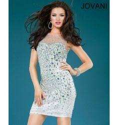 $390.00 Jovani Short Dress at http://viktoriasdresses.com/ Through John's Tailors