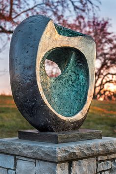 "Barbara Hepworth sculpture ""Epidorous II."""