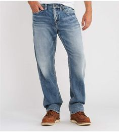 Silver Jeans Co& Big Tall Grayson Easy& Straight& Jeans - Indigo 54 30 Big & Tall Jeans, Mens Big And Tall, Stretch Denim, Dillards, Indigo, Style Me, Latest Trends, Guy Outfits, Legs