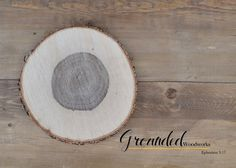 "Wood Round Centerpiece 12"" Rustic Solid Oak Rounds UNTREATED 1 Wood Slices, Wedding Charger, Table Centerpieces, Decor, Decoration, Charges"