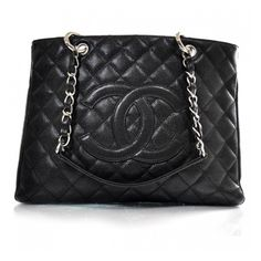 I want this bag!..........Fashionphile - CHANEL Caviar Grand Shopping Tote GST Black, found on #polyvore. #bags