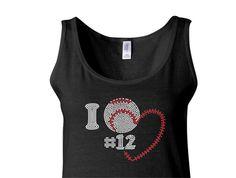 rinestone baseball mom tank | Personalized Baseball Mom Tank Top I love Number - Baseball Mom Shirt ...