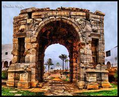 قـوس مـاركـوس - طـرابـلـس  Marcus aurelius arch , Tripoli , Libya