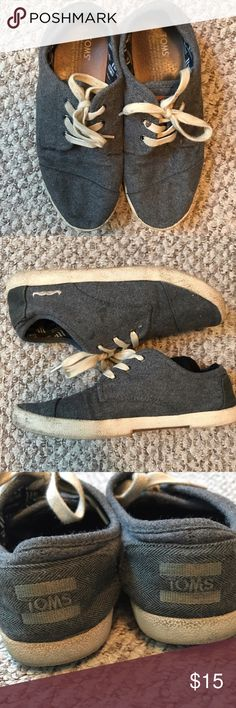 Movember Women's Toms grey toms for movember wool women's paseos.  Pretty worn out. Comfortable fit still TOMS Shoes Sneakers
