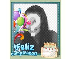Fotomontaje para hacer una postal de felicitación gratuita - Fotoefectos Funny Happy Birthday Images, Birthday Frames, Birthday Greetings, Lily, Happy Birthday Text, Happy Birthday Photos, Birthday Photos, Happy Birthday Grandson, Orchids