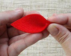 Como fazer a flor do natal em feltro, dica de artesanato