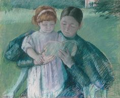 Mary Cassatt: Nurse Reading to a Little Girl (62.72) | Created in 1895. Heilbrunn Timeline of Art History | The Metropolitan Museum of Art