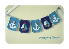Nautical Bunting/Banner - for nursery or photo prop -