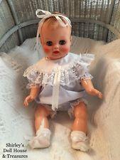 "Vintage 1950's Molded Hair Drink & Wet Baby Doll 20"" Original Undershirt Diaper"