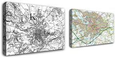 Cassini Maps - Keyword Product Search | Personalised Historical Map Place Mats & Coasters