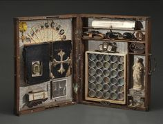 Wendy Aikin On Tour: Josephine Le Strange, Collector of Reliquaries, Paris, Rome & Perth Found Object Art, Found Art, Mixed Media Boxes, Mixed Media Art, Altered Boxes, Altered Art, Box Art, Art Boxes, Collage Art