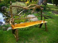 Log bench. For the garden or an entryway.