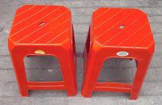 Selatan Jaya distributor barang plastik Surabaya: Kursi bakso plastik Apollystar warna merah tanpa s...