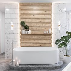 5 Ways to Create a Luxurious Modern Bathroom Design - Your bathroom is the space that deserve a little luxury. Check out these luxurious modern bathroom design ideas for your bathroom remodel inspirations. Spa Bathroom Design, Bathroom Spa, Wood Bathroom, Bathroom Styling, Bathroom Lighting, Bathroom Ideas, Bathroom Green, Bathroom Plants, Nature Bathroom