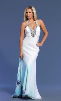 Sweep/Brush Train Chiffon Crystal Lace-up Prom Dress PD3372