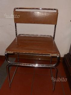EUR 80  2 Sedie design '70 vintage in pelle e acciaio - Arredamento e Casalinghi In vendita a Firenze