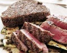 A simple salt and pepper grilled tuna recipe will last you well through the summer. #tuna #grillin