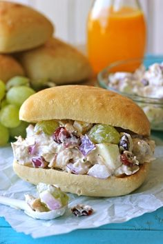 Greek Yogurt Chicken Salad Sandwich by Damn Delicious. From the plump grapes and fresh apples to the sweet cranberries, this lightened up sandwich won't even taste healthy! When Jason came to visit last weekend, I sent him off with some freezer-friendly meals and a batch of chicken pesto along with a loaf of bread. With his crazy school schedule, I know that he… [read more]