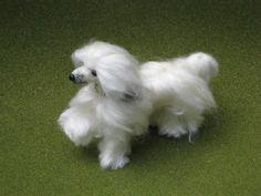 Needle Felted Dog / Handmade Custom Miniature by GourmetFelted, $250.00