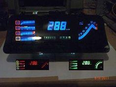 Tacho BLAU Opel Kadett Gsi, Astra C20XE Tuning LCD Speedo Vauxhall
