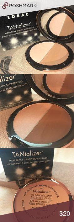 🆕 LORAC Tantalizer Highlighter & Matte Bronzer BRAND NEW, LORAC Tantalizer Highlighter & Matte Bronzer duo  ✔️ Contour ✔️ Highlight ✔️ Bronzer LORAC Makeup Bronzer
