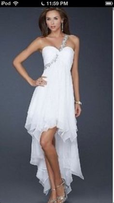 High and Low, one shoulder dress
