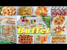 MILLE IDEE PER UN BUFFET - COME ORGANIZZARE UN RINFRESCO IN CASA - How to Set Up a Buffet - YouTube Yummy Appetizers, Appetizer Recipes, Snack Recipes, Snacks, Catering, Good Food, Yummy Food, Party Buffet, Antipasto