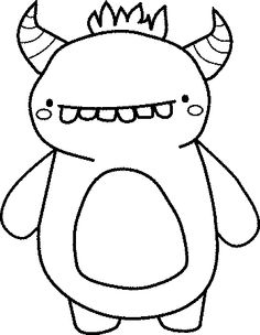 Monster Coloring Pages for Kids. 20 Monster Coloring Pages for Kids. Halloween Coloring Pages Disney Coloring Pages, Colouring Pages, Printable Coloring Pages, Coloring Pages For Kids, Coloring Books, Free Coloring, Doodle Monster, Monster Drawing, Monster Party