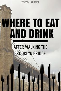 Where to Eat and Drink After Walking the Brooklyn Bridge After a trek across the Brooklyn Bridge, you'll want to check out these excellent bars and restaurants on both sides. Brooklyn Restaurant, Brooklyn Nyc, Brooklyn Food, Brooklyn Bridge Walk, Brooklyn Dumbo, Williamsburg Brooklyn, New York City Vacation, New York City Travel, Empire State Building