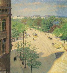 View from Gerda Koppel's studio window on Glockengießerwall, Hamburg - Paul Kayser, 1910  German, 1869-1942