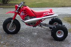 This is a 1986 Honda ATC its one of hondas racing Fourwheelrs.