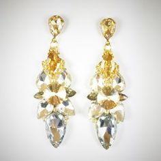 Art jewelry by Kristína Jurinyi - I-crystal.eu Earrings Handmade, Jewelry Art, Drop Earrings, Crystals, Fashion, Self, Moda, Fashion Styles, Drop Earring