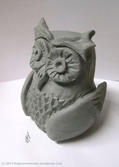 Pinch Pot Clay Owl - Created by Tanya Green