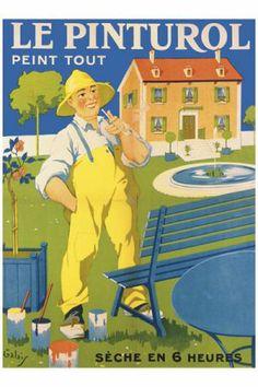 peintures  Le Pinturol affiche ancienne ad