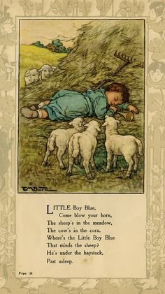 Nursery Rhymes-Artist: Clara Miller Burd- She illustrated a large number of children's books, the most famous of which are Small women and other stories of Louisa May Alcott.