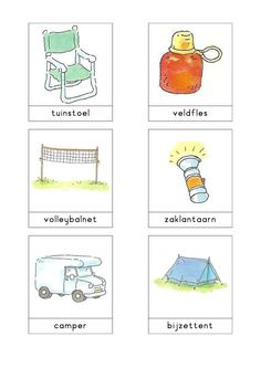 Woordkaarten Bas 'De camping' 3