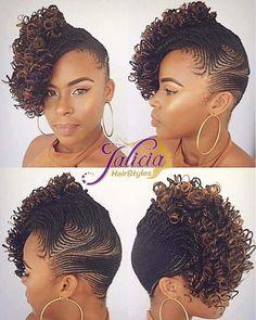 side cornrows braided hairstyle