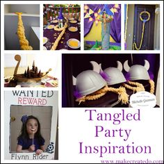 repunzel and tangled birthday party ideas and inspiration | Make Create Do